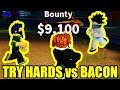 BIGGEST TRY HARD COPS vs BACON HAIR | Roblox Jailbreak