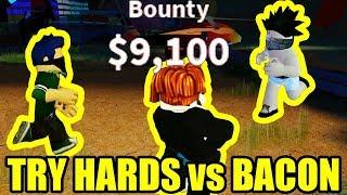 BIGGEST TRY HARD COPS vs BACON HAIR | Roblox Jailbreak