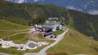Spieljochbahn Bergstation in Fügen Spieljoch Wanderwege im Zillertal in Österreich