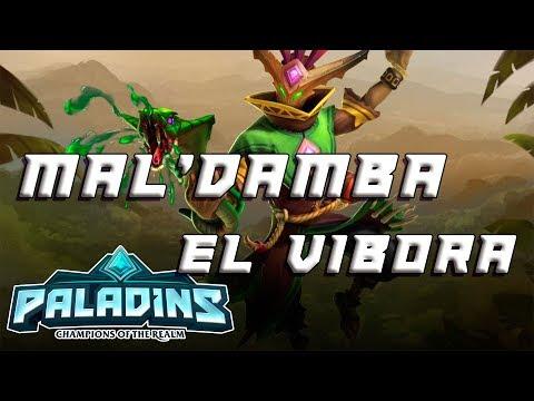 Paladins Gameplay - Mal'Damba, el víbora (Español)