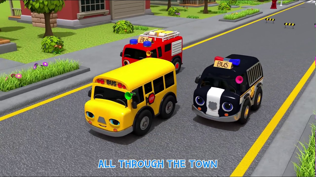 Download Wheels On The Bus Go To Town | Learn Traffic safety Song | Nursery Rhymes & Kids Songs - ToyMonster
