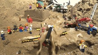 LEGO Dam Breach Airport Collapse - Two Parts of Floods!