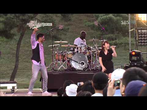 Eric Benet with Park Jimin 박지민 Spend my life with you  2012 Seoul Jazz Festival