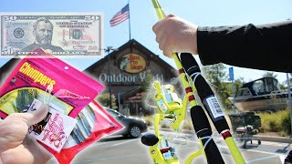 $50 Bass Pro Shops Fishing Challenge (Insane)