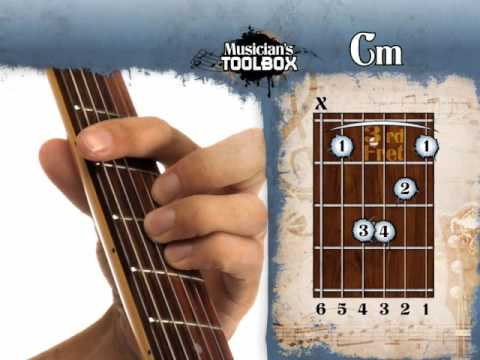 How to play the Cm barre chord on guitar Cm bar chord with the root ...