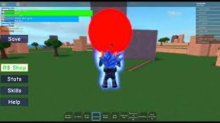 Roblox Dragon Ball X : showing u guys a glitch!