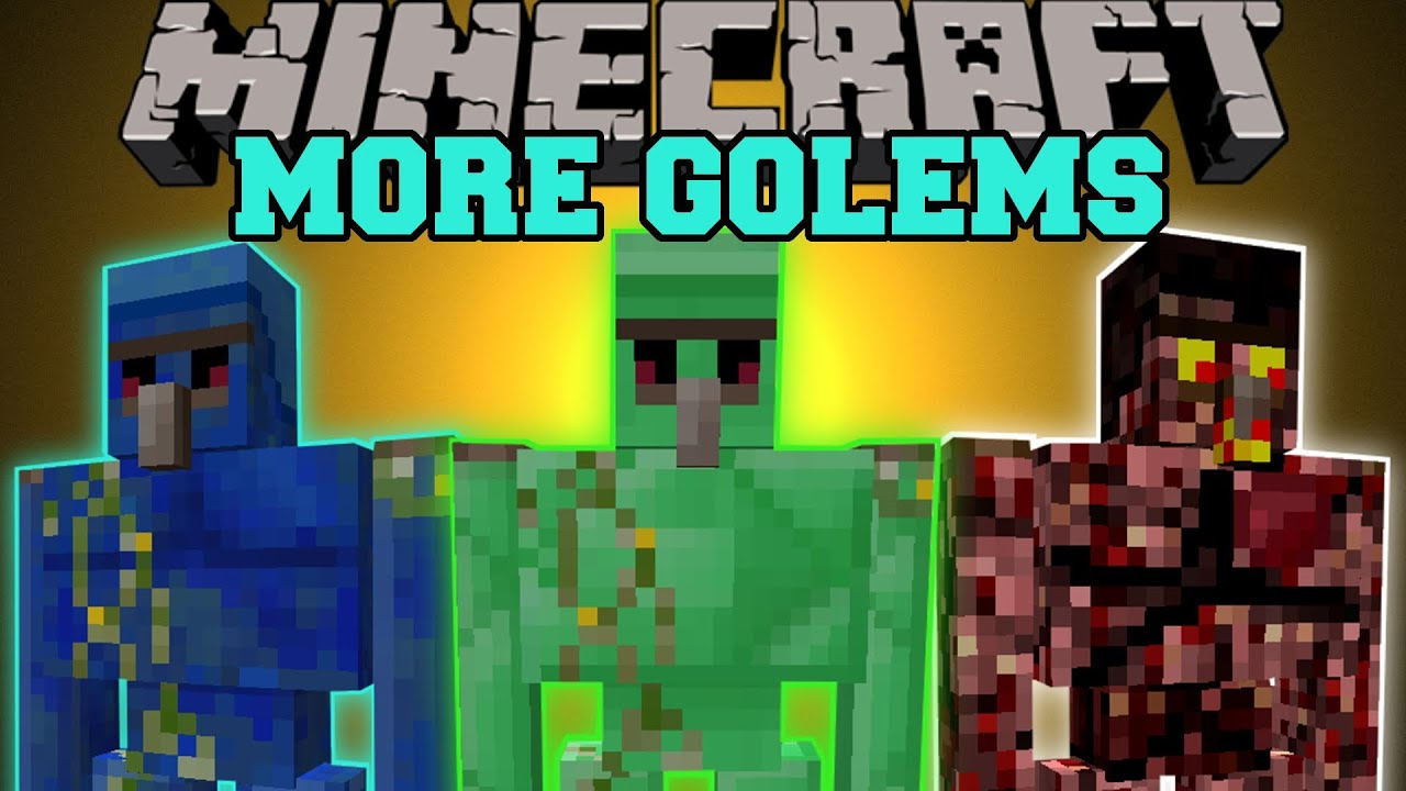 Minecraft more golems tons of new golems golem world - Minecraft golem de diamant ...