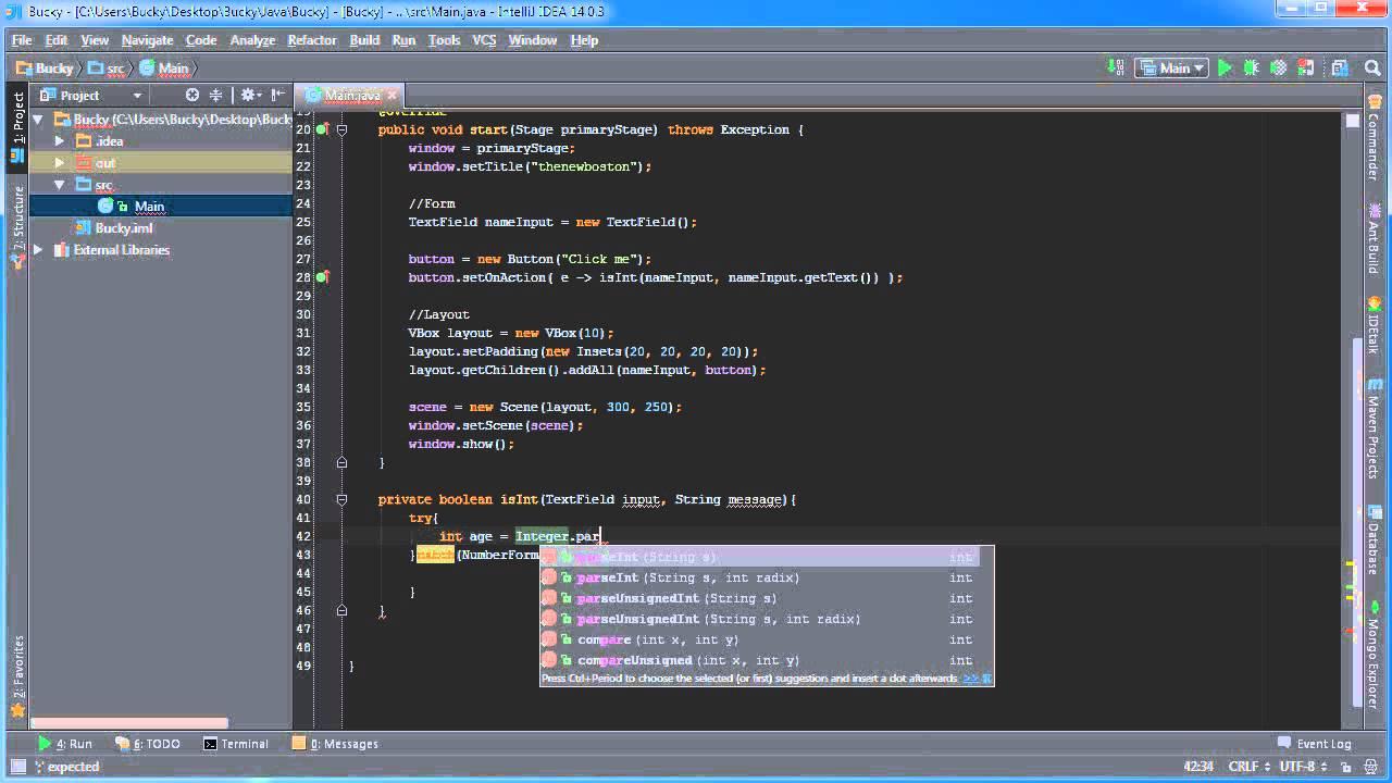 Javafx Java Gui Tutorial 10 Extract And Validate Input Youtube