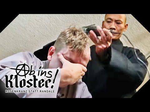Radikale Entscheidung: Marcel rasiert seine Haare ab! | Ab ins Kloster! | Kabel Eins