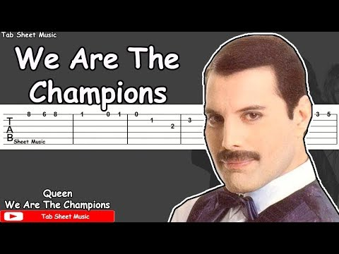 Queen - We Are The Champions Guitar Tutorial