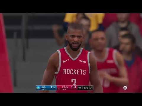 Nba Live 19 Slider Update Gameplay w/1.14   Golden State Warriors Vs Houston Rockets  2nd Half (xb1)