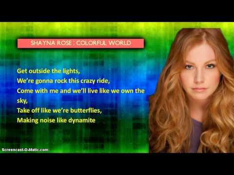 Shayna Rose - Colorful World (Lyrics Video)