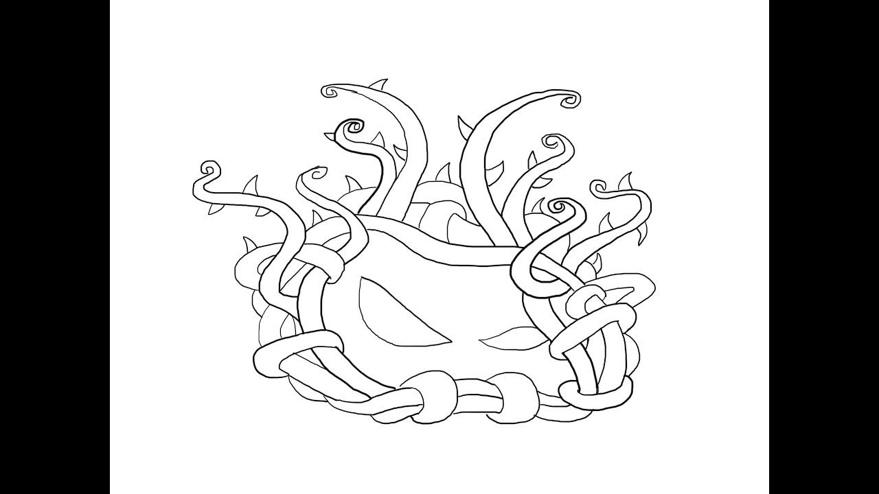Tangle Kelp plants vs zombies 2 How to draw? Клубок