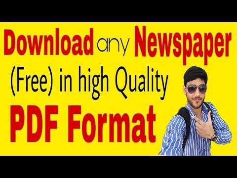 How to Free Download Newspaper Daily 2018  Daily Newspaper PDF File