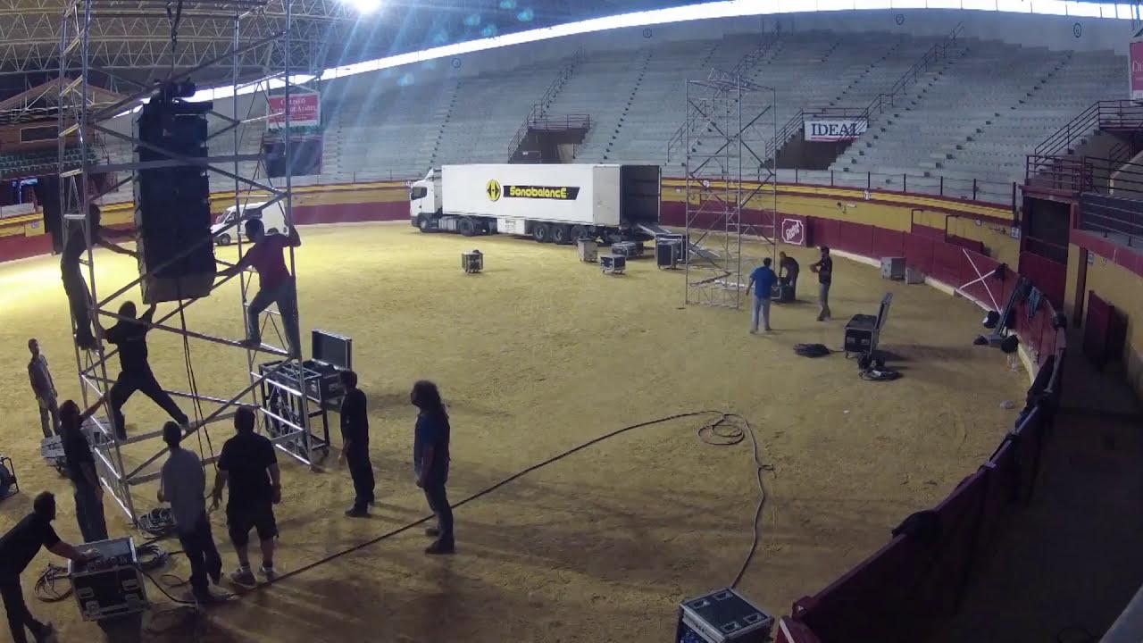 Timelapse Montaje Diseno Y Sonorizacion L Acoustics Kudo Plaza Toros Atarfe Con Escenica Granada Sonobalance S L 01 50 Hd