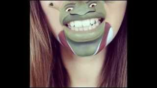 Смешной макияж губ. Рисунки животных на лице(Улыбнитесь. Смешной макияж губ. Конечно, с таким макияжем никто из вас не будет ходить, но сам по себе забавн..., 2014-09-17T20:15:55.000Z)