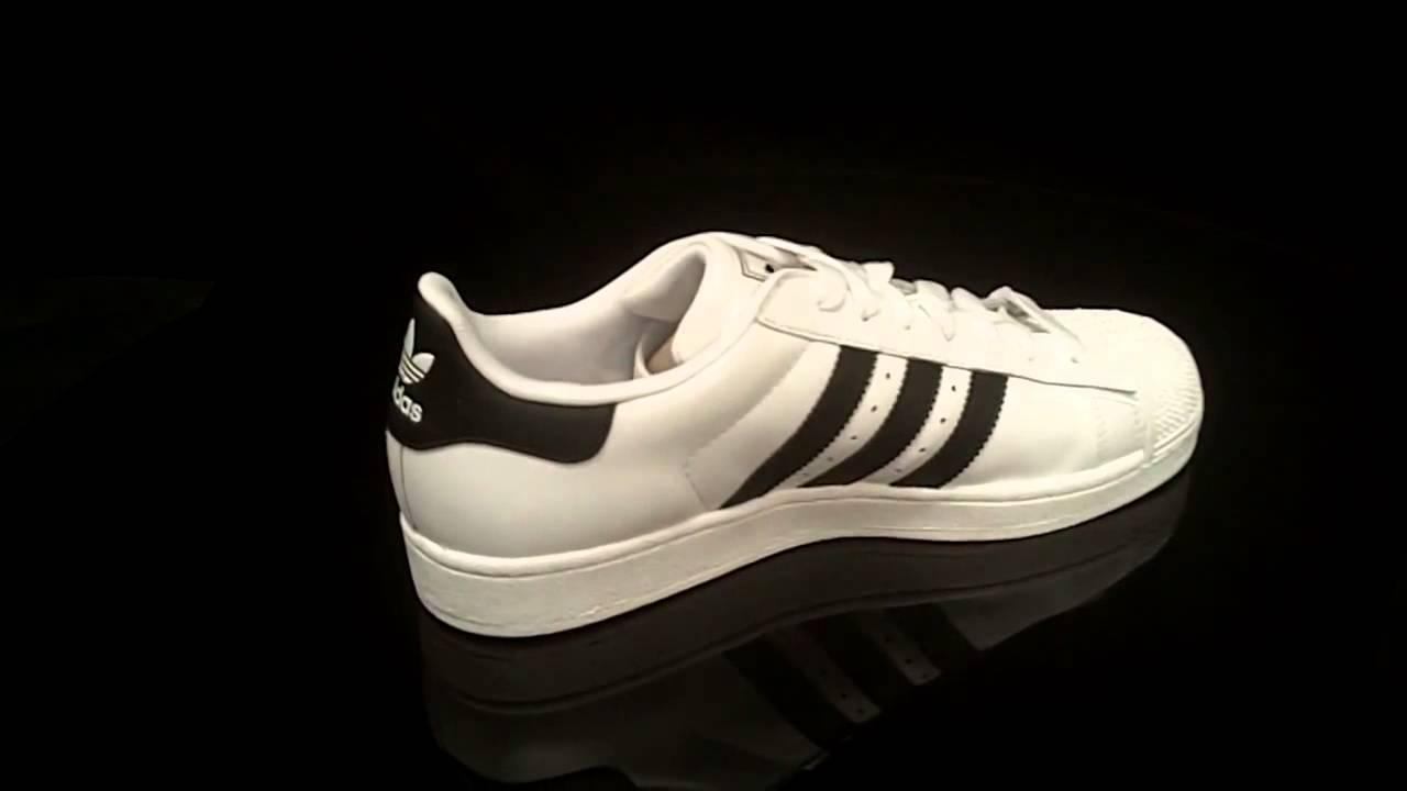 e85b352a7baa Adidas Superstar II White Black White G17068 - YouTube