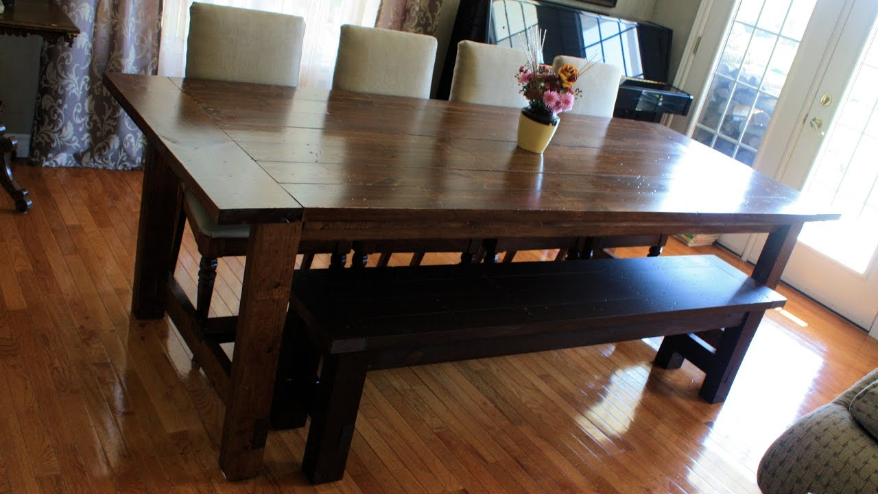 dining table bench seats youtube rh youtube com bench seat with back for dining room table Bench with Dining Table and Chairs
