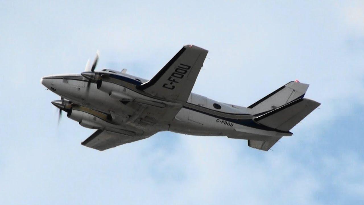 Propair Beechcraft A100 King Air (CFDOU) Takeoff 24L