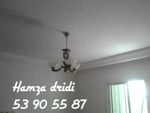 Placo platre tunisie youtube for Model faux plafond platre