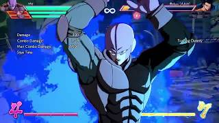 Testing HIT's moveset and super moves | Training - DRAGON BALL FighterZ