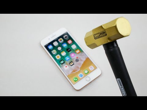 iPhone 8 Plus Hammer & Knife Scratch Test