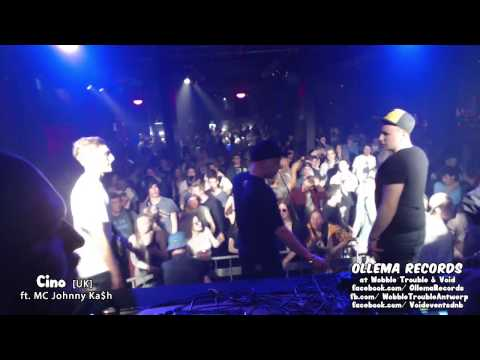 Cino ft. MC Johnny Ka$h Live at Wobble Trouble & Void Antwerp Clip #1