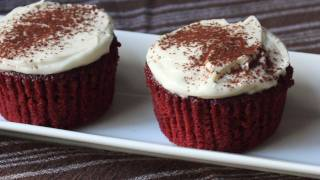 Red Velvet Cupcakes Recipe - How to Make Red Velvet Cupcakes with Cream Cheese Frosting