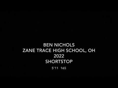 Ben Nichols 2022 Zane Trace High School Shortstop