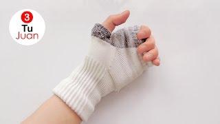 Como hacer guantes con medias - Manualidades   DIY