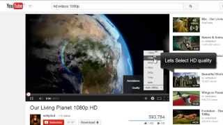 How to Play HD Videos Without Buffering  on Youtube