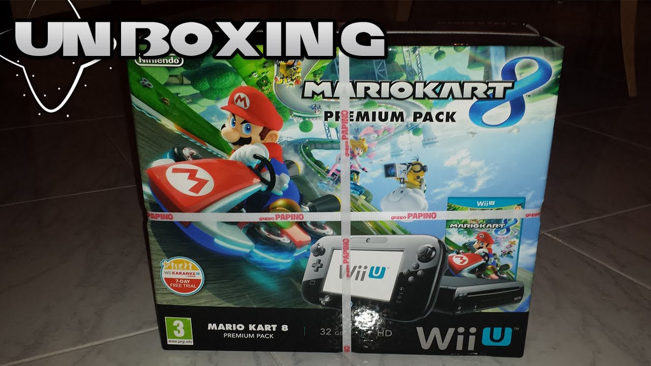 unboxing nintendo wii u premium pack mario kart 8 ita. Black Bedroom Furniture Sets. Home Design Ideas