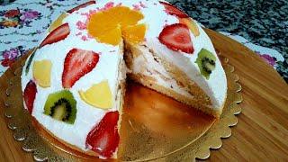 Yapımı O Kadar Kolay ki Çok Şaşıracaksınız Meyveli Yaş Pasta Tarifi Hacereli