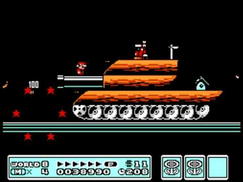 Tank/Gunship/Ship Theme 10 Hours - Super Mario Bros 3 NES