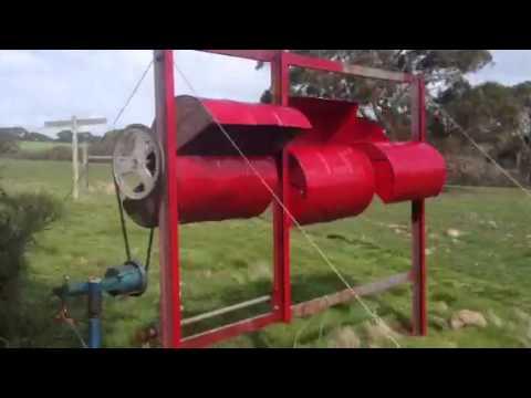 Savonius Oil drum wind turbine now HAWT