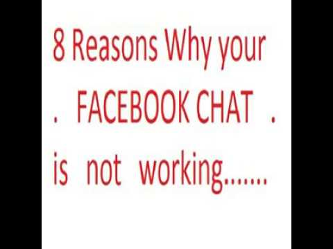 8 Reasons Why Your Facebook Chat Is Not Working Properly