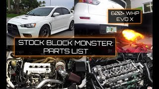 EVO X 600whp+!!! STOCK BLOCK!!!  What's it take?! FULL PARTS LIST!!!