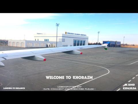 [4K] Посадка в Ургенч-2. Landing To Urganch-2.