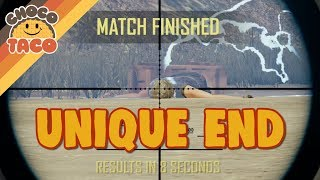 A Very Unique Ending - chocoTaco PUBG Gameplay