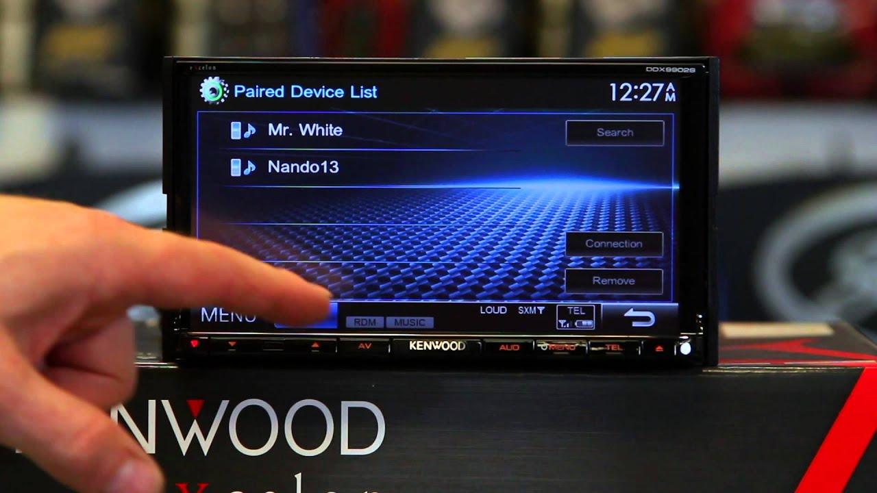 How to do dual phone pairing on Kenwood's DDX9902S multimedia radio