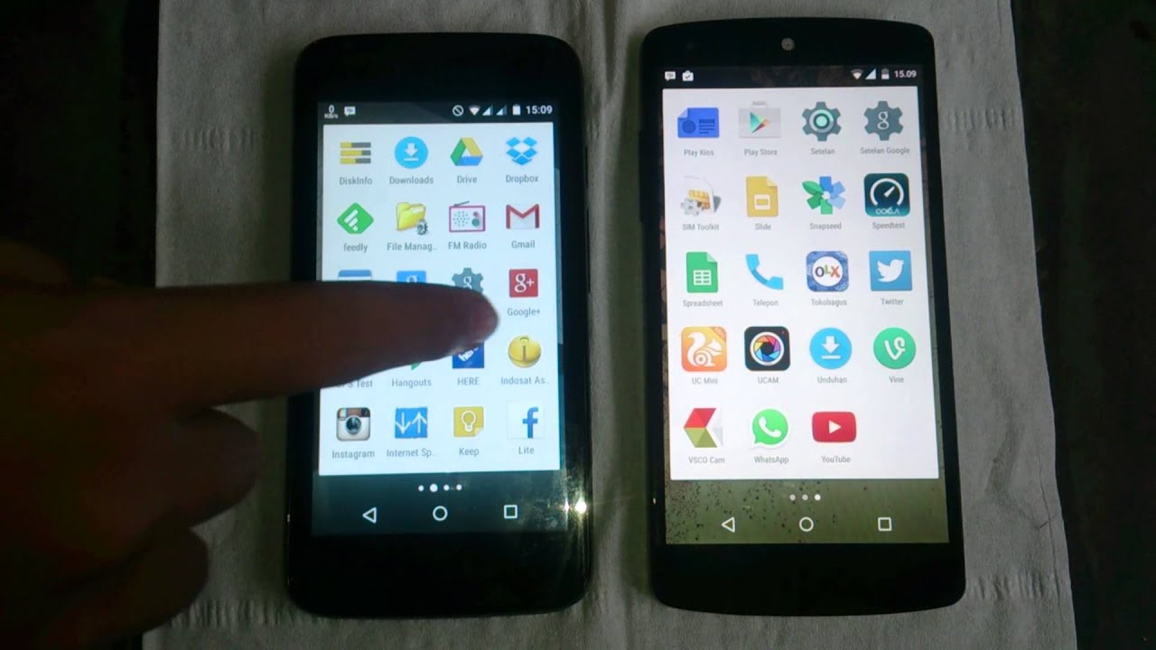revew nexus 5 vs nexian android one indonesia youtube