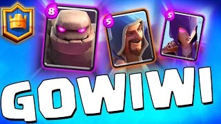 "Clash Royale ""GoWiWi Attack Strategy?!"" Clash of Clans Strategy in Clash Royale!"