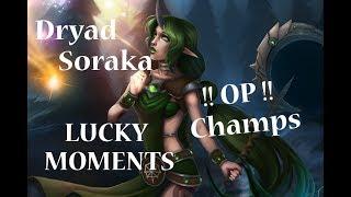 Dryad Soraka Skin - LUCKY MOMENTS   League of Legends