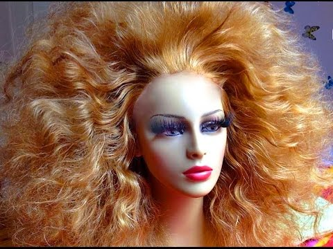 RUPAUL DRAG RACE WIG BIG HAIR TUTORIAL VLOG