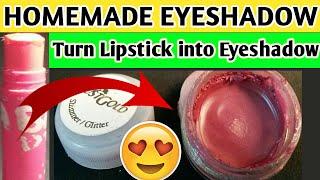 Homemade eyeshadow: Make eyeshadow at home using lipstick | DIY eyeshadow with lipstick