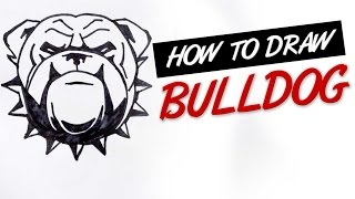 How to draw bulldog tribal tattoo design  |   Ep. 146