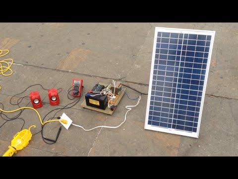 Panel Solar Con Inversor Dc Ac Youtube