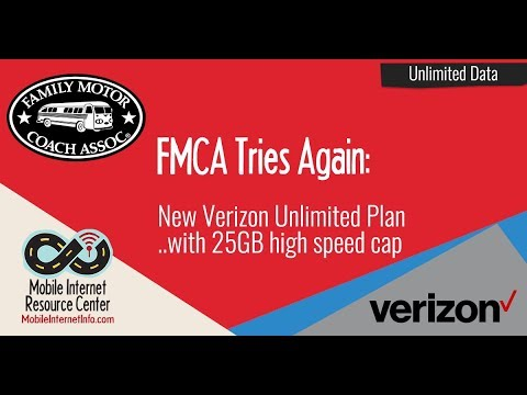 FMCA Tries Again: New Verizon Unlimited Data Plan (with 25GB Cap)