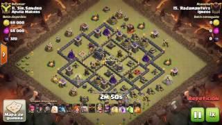 [Clash of Clans] Qw Va Hog + boler  TH9  3 stars #129