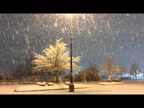 Very heavy snow in Huntsville, AL - Feb 12, 2014